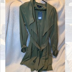 Olive green duster ! Super cute never worn